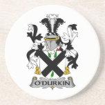 Escudo de la familia de O'Durkin Posavasos Manualidades