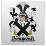 Escudo de la familia de O'Durkin Servilleta Imprimida