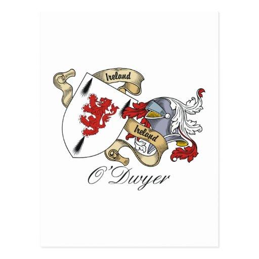 Escudo de la familia de O'Dwyer Tarjetas Postales