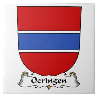 Escudo de la familia de Oeringen Azulejo Ceramica
