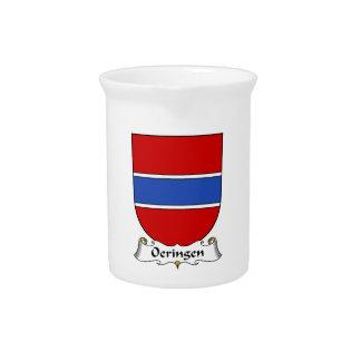 Escudo de la familia de Oeringen Jarra Para Bebida