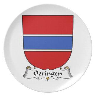 Escudo de la familia de Oeringen Plato De Cena