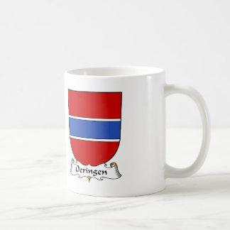 Escudo de la familia de Oeringen Tazas De Café