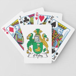 Escudo de la familia de O'Fahy Baraja De Cartas