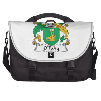 Escudo de la familia de O'Fahy Bolsa De Ordenador