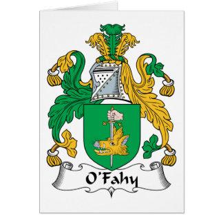 Escudo de la familia de O'Fahy Felicitacion