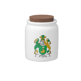 Escudo de la familia de O'Fahy Jarra Para Caramelo