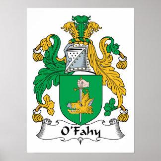Escudo de la familia de O'Fahy Posters