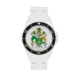 Escudo de la familia de O'Fahy Relojes De Mano