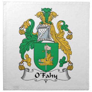 Escudo de la familia de O'Fahy Servilletas