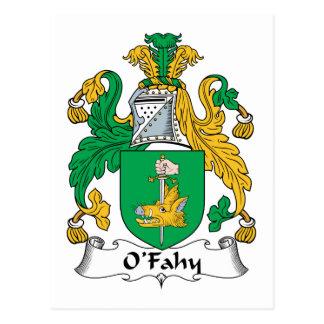 Escudo de la familia de O'Fahy Tarjeta Postal