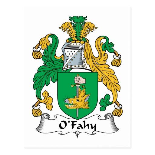 Escudo de la familia de O'Fahy Tarjetas Postales