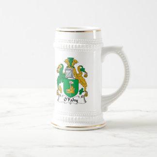 Escudo de la familia de O'Fahy Tazas De Café