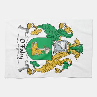 Escudo de la familia de O'Fahy Toallas De Cocina