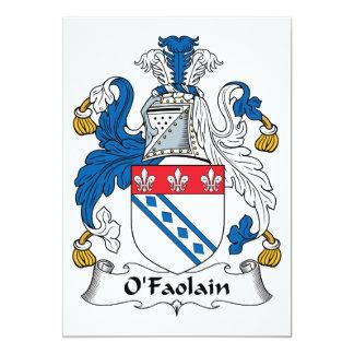 """Escudo de la familia de O'Faolain Invitación 5"""" X 7"""""""