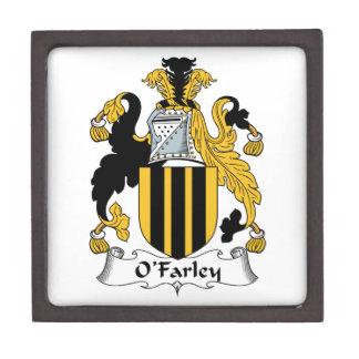 Escudo de la familia de O'Farley Cajas De Joyas De Calidad