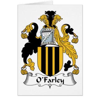 Escudo de la familia de O'Farley Felicitacion