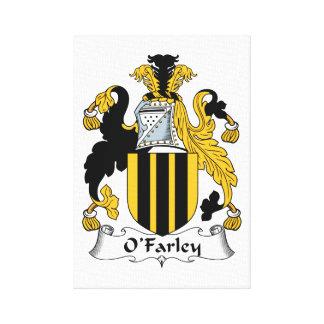 Escudo de la familia de O'Farley Lona Envuelta Para Galerías