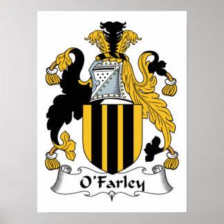 Escudo de la familia de O'Farley Posters