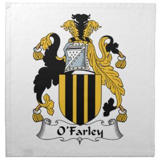 Escudo de la familia de O'Farley Servilleta