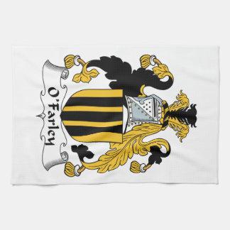 Escudo de la familia de O'Farley Toalla De Mano