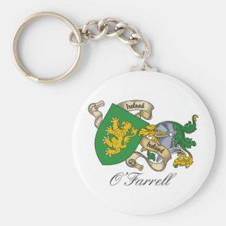 Escudo de la familia de O'Farrell Llavero Redondo Tipo Pin