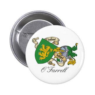 Escudo de la familia de O'Farrell Pin Redondo 5 Cm