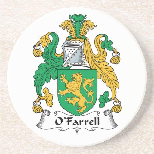 Escudo de la familia de O'Farrell Posavaso Para Bebida