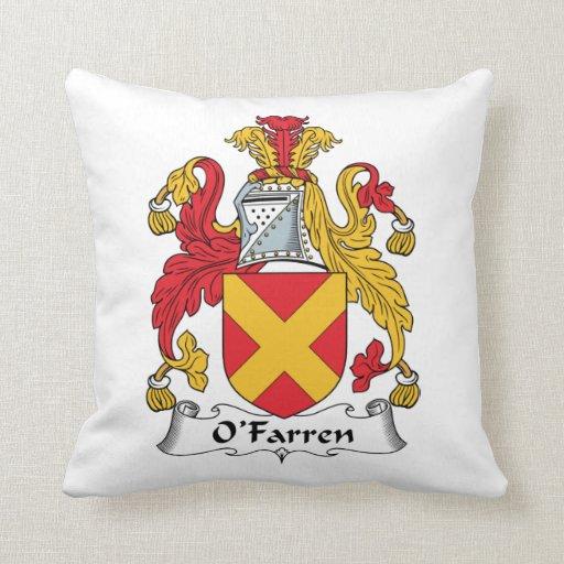 Escudo de la familia de O'Farren Cojin
