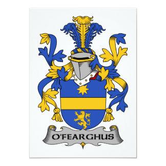 """Escudo de la familia de O'Fearghus Invitación 5"""" X 7"""""""