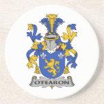 Escudo de la familia de O'Fearon Posavasos Manualidades