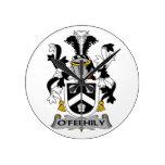 Escudo de la familia de O'Feehily Reloj De Pared