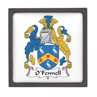 Escudo de la familia de O'Fennell Cajas De Regalo De Calidad