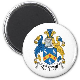 Escudo de la familia de O'Fennell Imán Redondo 5 Cm