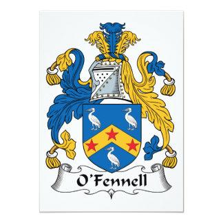 """Escudo de la familia de O'Fennell Invitación 5"""" X 7"""""""