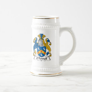 Escudo de la familia de O'Fennell Jarra De Cerveza