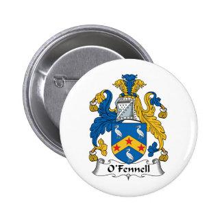 Escudo de la familia de O'Fennell Pin Redondo 5 Cm