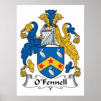 Escudo de la familia de O'Fennell Póster