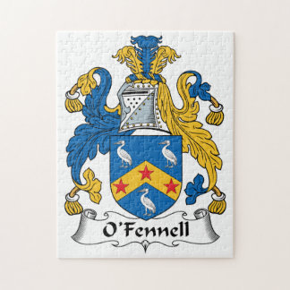 Escudo de la familia de O'Fennell Rompecabezas Con Fotos