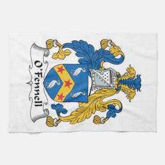 Escudo de la familia de O'Fennell Toalla De Mano