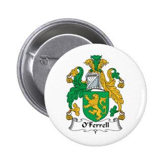 Escudo de la familia de O'Ferrell Pin Redondo 5 Cm