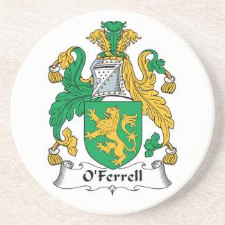 Escudo de la familia de O'Ferrell Posavaso Para Bebida