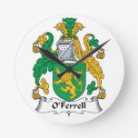 Escudo de la familia de O'Ferrell Reloj