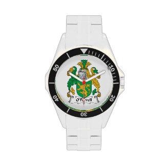 Escudo de la familia de O'Ferrell Relojes