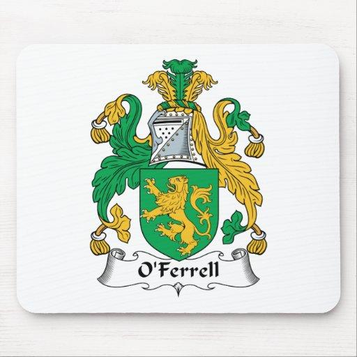 Escudo de la familia de O'Ferrell Alfombrillas De Ratones