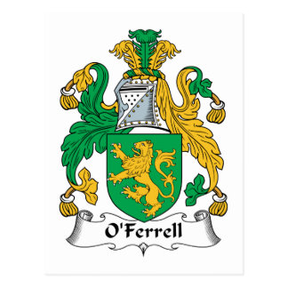 Escudo de la familia de O'Ferrell Postales