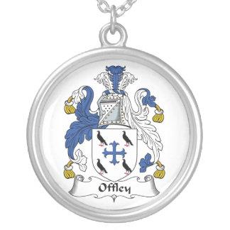 Escudo de la familia de Offley Colgante Redondo