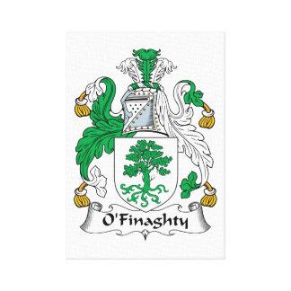 Escudo de la familia de O'Finaghty Lienzo Envuelto Para Galerías