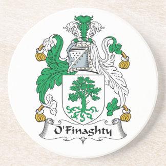 Escudo de la familia de O'Finaghty Posavasos Personalizados