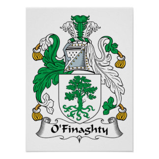 Escudo de la familia de O'Finaghty Póster